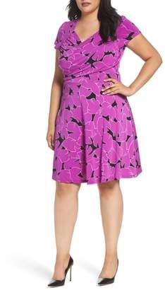 Leota Faux Wrap Jersey Dress