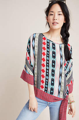 3475d7d357589f Conditions Apply Geometric Dolman-Sleeved Blouse