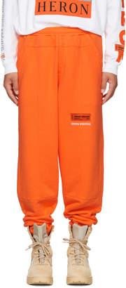 Heron Preston Orange HP Sweatpants