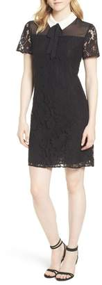 Cynthia Steffe CeCe by Collared Cotton Blend Lace Dress