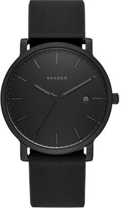 Skagen Hagen Round Silicone Strap Watch, 40Mm $145 thestylecure.com