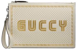 Gucci Guccy leather pouch