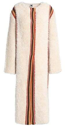 Crochet-Trimmed Faux Fur Jacket