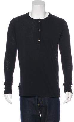 Current/Elliott Long Sleeve Henley T-Shirt