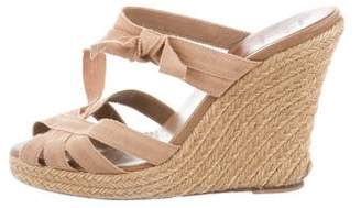 Christian Louboutin Espadrille Wedge Slide Sandals