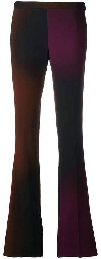 flared degradé trousers