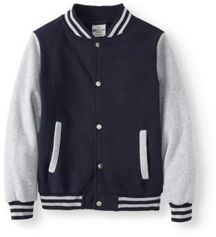 Bocini Unlined Fleece Varsity Jackets (Little Boys & Big Boys)