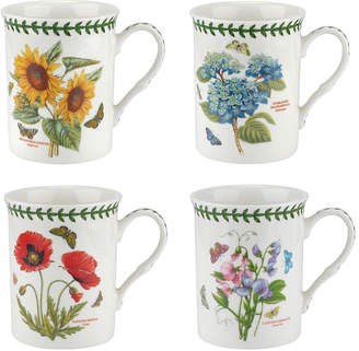 Portmeirion Botanic Garden Assorted Flower Mugs, Set of 4