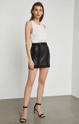 BCBGMAXAZRIA Roxy Faux-Leather Mini Skirt
