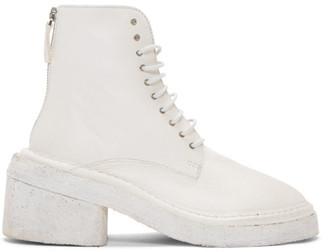Marsèll White Burraccio Polacchino Boots