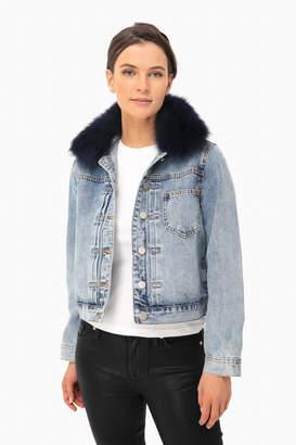 Mod Ref Denim Jacket with Faux Fur Collar