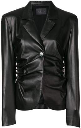 Drome ruched fitted jacket