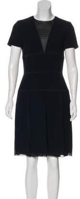 Christian Dior Virgin Wool Knee-Length Dress