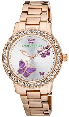 Laura Ashley Women's LA31015RG Analog Display Japanese Quartz Rose Gold Watch $130.34 thestylecure.com