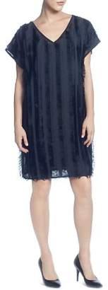 Catherine Malandrino Short-Sleeve Fringe Dress