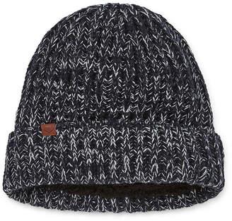 ST. JOHN'S BAY Chunky Knit Faux Fur Lined Beanie