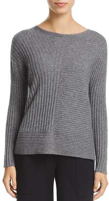 Eileen Fisher Cashmere Directional-Rib Sweater - 100% Exclusive