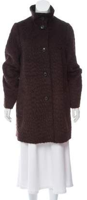 Akris Long Sleeve Knee-Length Coat