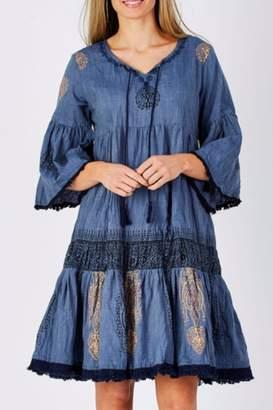 Ya-Ya Ruby Boho Tunic Dress