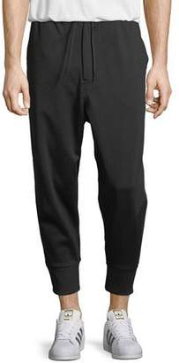 Y-3 3-Stripe French Terry Track Pants, Black