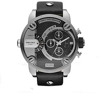 Diesel Men's Little Daddy Quartz Stainless Steel and Leather Chronograph Watch