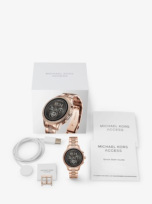 Michael Kors Runway Pave Rose Gold-Tone Smartwatch