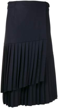 P.A.R.O.S.H. asymmetric pleated skirt