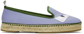 Fendi Purple Leather 'Bag Bugs' Espadrilles $550 thestylecure.com