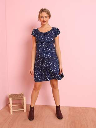8fe0ff6064fb3 Vertbaudet Loose-fitting Maternity Dress with Floral Print