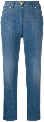 Balmain cropped high-rise jeans
