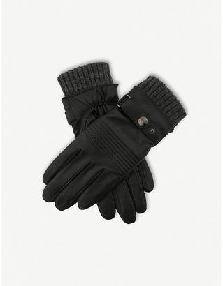 Dents Water-resistant lined leather gloves