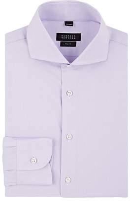 Barneys New York Men's Micro-Houndstooth Cotton Poplin Trim Dress Shirt