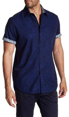 Robert Graham Bell Gardens Short Sleeve Classic Fit Dress Shirt