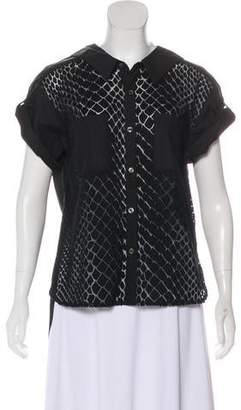 Miharayasuhiro Devoré Button-Up Top