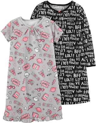 Carter's Girls 4-14 Nightgown Set