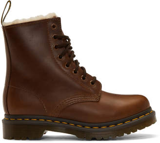Dr. Martens Brown Faux-Fur 1460 Serena Boots