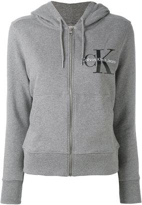 Calvin Klein Jeans logo zip hoodie $117.75 thestylecure.com