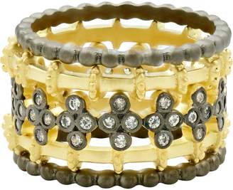Freida Rothman Imperial Set of 5 Stackable Rings