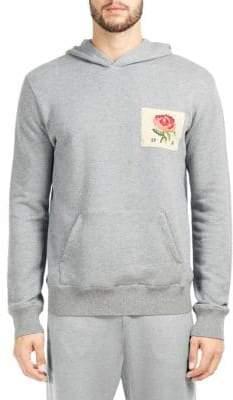Kent & Curwen Grafham Floral-Patch Hoodie