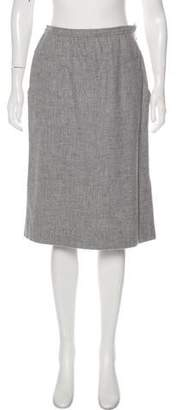 Courreges Wool Knee-Length Skirt