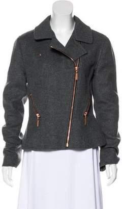 Cédric Charlier Wool-Blend Moto Jacket
