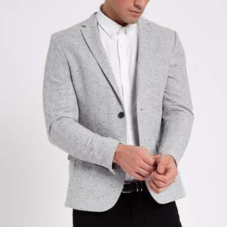 River Island Mens Light grey skinny fit blazer