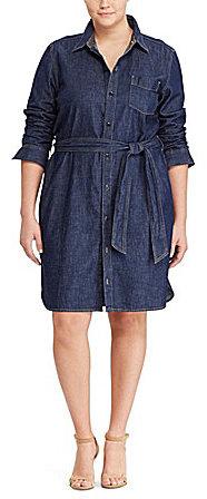 Lauren Ralph LaurenLauren Ralph Lauren Plus Denim Shirt Dress