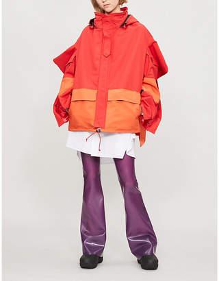 Junya Watanabe Asymmetric shell parka jacket