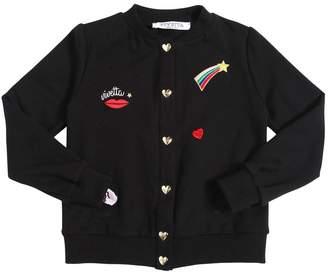 Vivetta Cotton Sweatshirt Jacket W/ Patches