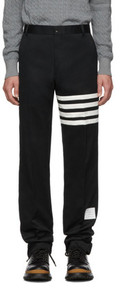 Thom Browne Navy Unstructured Chino 4-Bar Trousers