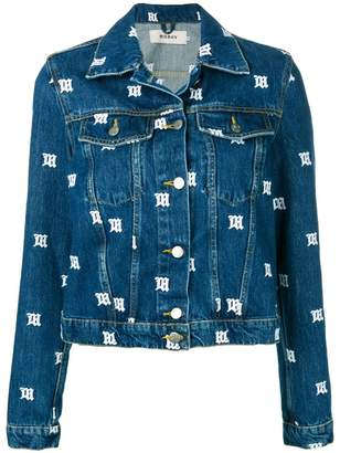 Misbhv all-over logo denim jacket