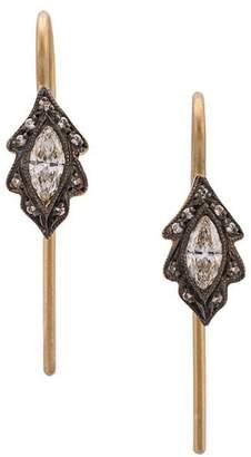 Cathy Waterman Marquise leaf earrings