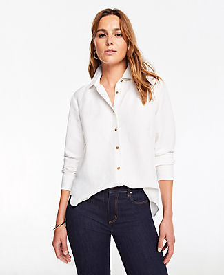 332c9173 Women White Petite Button Down Shirt - ShopStyle