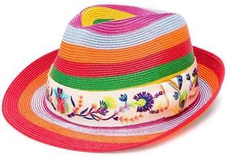 Etro striped Panama hat